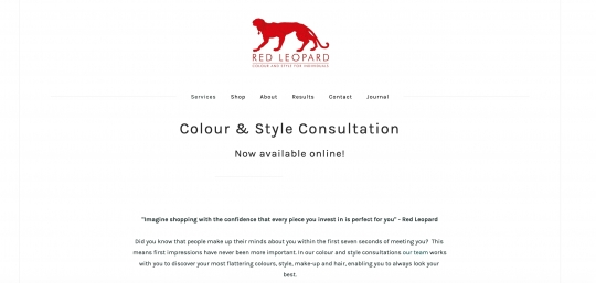 Red Leopard // Website upgrade, Instagram help & SEO