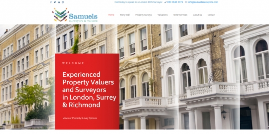 Samuels Surveyors // Website Launch